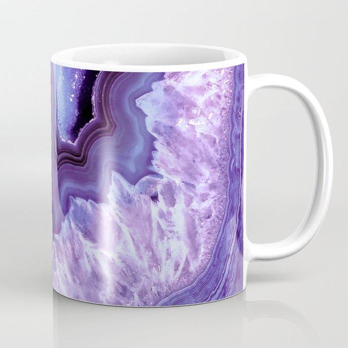 Purple Lavender Quartz Crystal Coffee Mug