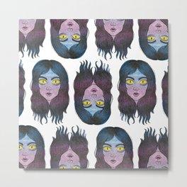 Reptile Girl Metal Print