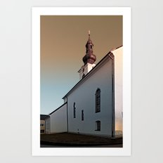 The village church of Lembach / Mkr III | architectural photography Art Print