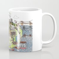 new york city Mugs featuring New York City Love by Brooke Weeber