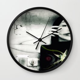 """""""strange color of your body's tears"""" Wall Clock"""