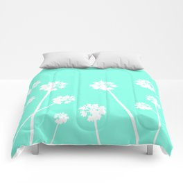 Palms in the Sky Comforters