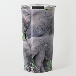 african elephant mother with baby Travel Mug