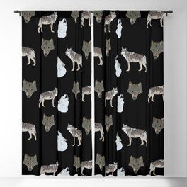 Wolves pattern  Blackout Curtain