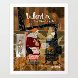 Spam Illustrated: Valentin & His Blind Mother Art Print