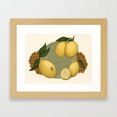 Honey, Bees & Lemons Framed Art Print