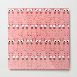 Super cute cartoon pink pig - bring home the bacon with everything for the pig enthusiasts! Metal Print
