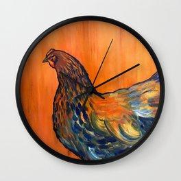 Orange Chicken Wall Clock