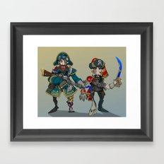 Space Pirates. Framed Art Print