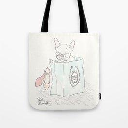 Paris Shopping French Bulldog Style Tote Bag
