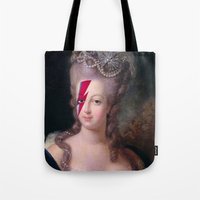 marie antoinette Tote Bags featuring Marie Antoinette by lapinette
