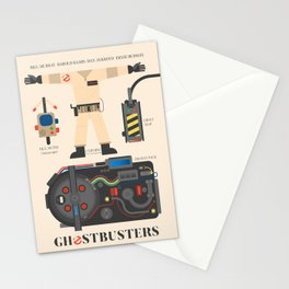 Ghostbusters movie poster, BIll Murray, Peter Venkman, Harold Ramis, proton pack, ghost trap Stationery Cards