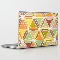quilt Laptop & iPad Skins featuring august quilt by Ariadne