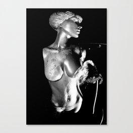 Goddess water fountain Canvas Print