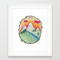 folk Framed Art Prints featuring Folk by Oh Lapislazuli