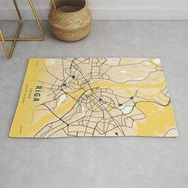 Riga Yellow City Map Rug
