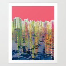 Fragmented Worlds II IV Art Print