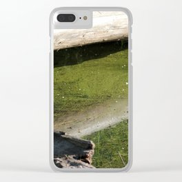 find the hidden frogs, Trojan pond, near Goble, Oregon Clear iPhone Case