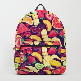 Fruit Cocktail on Blue Backpack