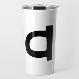 A Monogram (Hand 2) Travel Mug