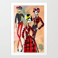 marc jacobs Art Prints featuring Marc Rendition1 by Ashley Love