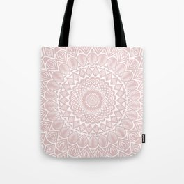 Light Rose Gold Mandala Minimal Minimalistic Tote Bag