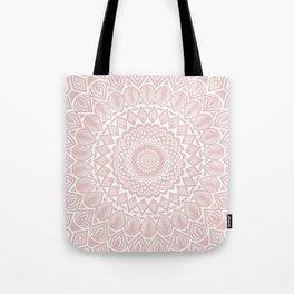Light Rose Gold Mandala Minimal Minimalistic Tote Bag