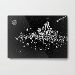 Space travelers #8 - Black/White Watercolor Metal Print