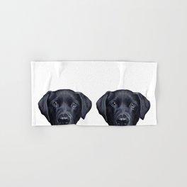 Labrador with white background Dog illustration original painting print Hand & Bath Towel