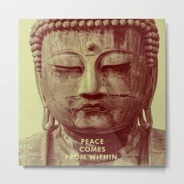 Buddha Duotone 3 Metal Print