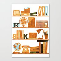 office Canvas Prints featuring Office by Kata