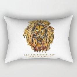 Caffeine lion Rectangular Pillow