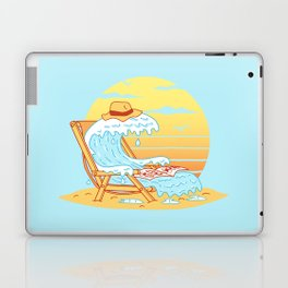 WAVE ON THE BEACH Laptop & iPad Skin