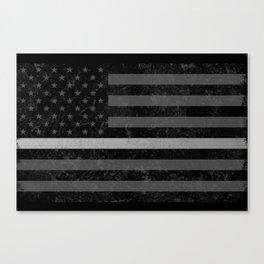Thin Silver Line Canvas Print