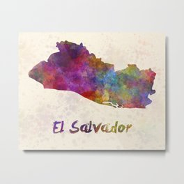 El Salvador in watercolor Metal Print
