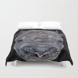 Black Rhino Duvet Cover