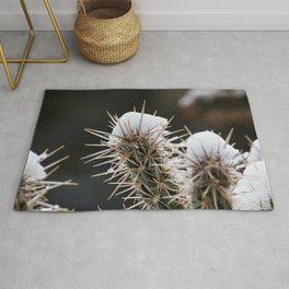 Cactus with Snow Rug
