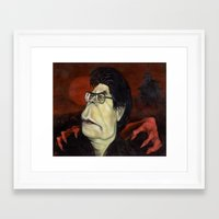 stephen king Framed Art Prints featuring Stephen King by GDoobwa
