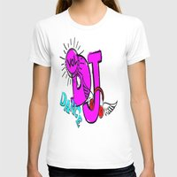 dj T-shirts featuring DJ by Christa Bethune Smith