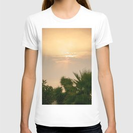 cloudy sky in the oasis T-shirt