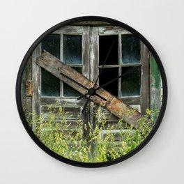 Shuttered Wall Clock