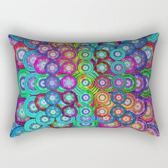 Multicolor Dots Pyramid Rectangular Pillow