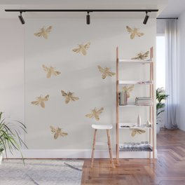 Busy Bees (Sand) Wall Mural