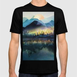 Mountain Lake Under Sunrise T-shirt