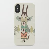 totem iPhone & iPod Cases featuring totem by kate hindley