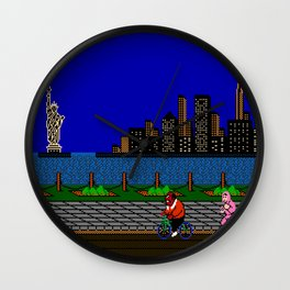 Punch Out Night Scene Wall Clock