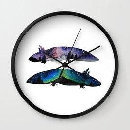 GALAXY STARRY NIGHT AXOLOTL ARTWORK Wall Clock