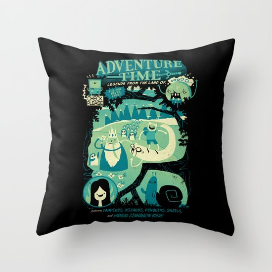 Legends from the Land of Ooo Throw Pillow