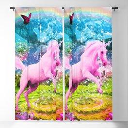 Vlentina' Unicorn Blackout Curtain