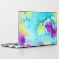 tie dye Laptop & iPad Skins featuring Tie-Dye by Tatiana Shaffer